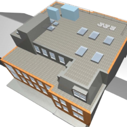 BIM was used to coordinate architectural and structural design