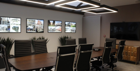 Meeting room created following removal of an external column and wall